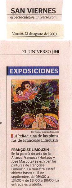 EL UNIVERSO - 2003