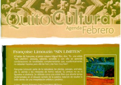 QUITO CULTURA - 2007