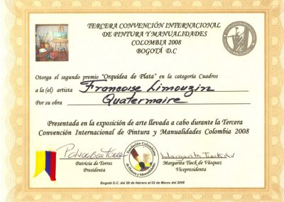 DIPLOMA COLOMBIA - 2008