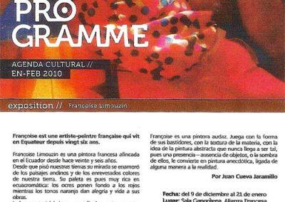 LE PROGRAMME AF - 2009