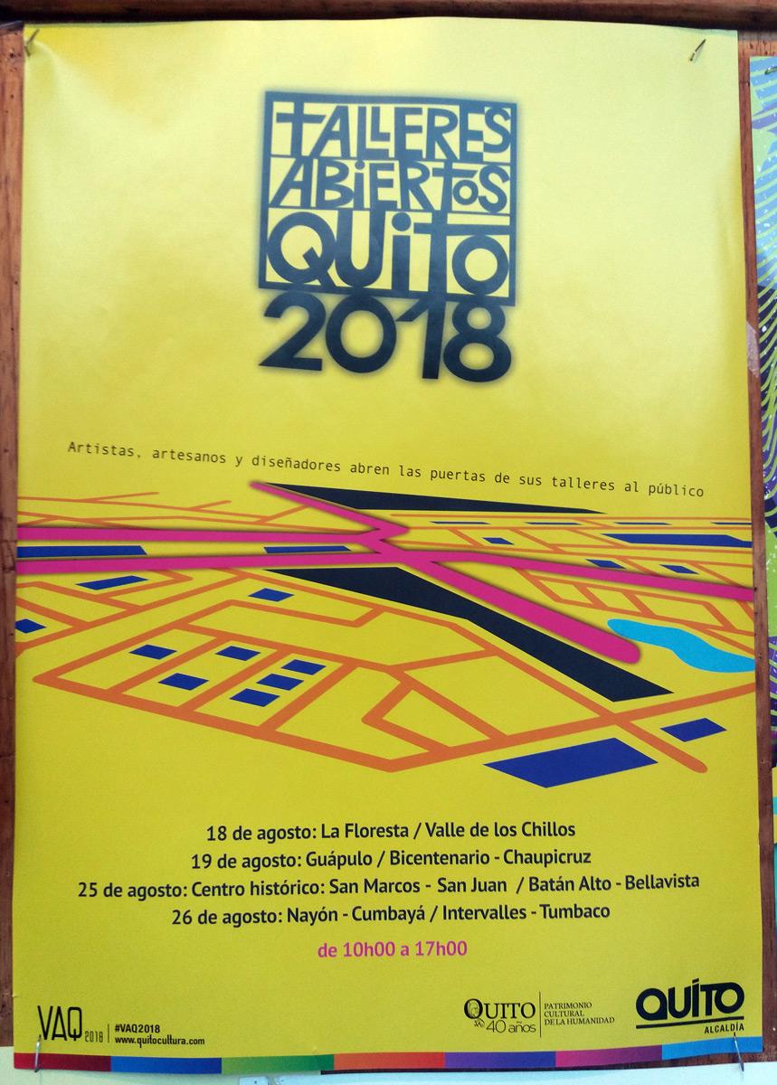 Más información en la página Facebook de Talleres Abierto Quito 2018